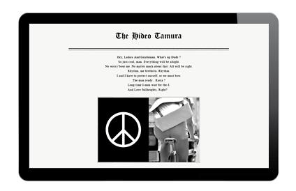 スタイリストHideo Tamuraのホームページを制作しました